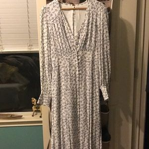 Free people dress with detachable duster